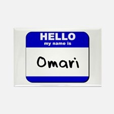 hello my name is omari Rectangle Magnet