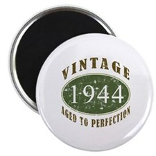 "Vintage 1944 Birthday (Green) 2.25"" Magnet (100 pa"