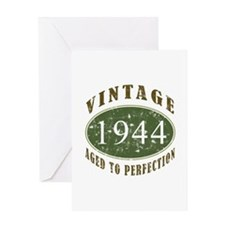 Vintage 1944 Birthday (Green) Greeting Card