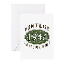 Vintage 1944 Birthday (Green) Greeting Cards (Pk o