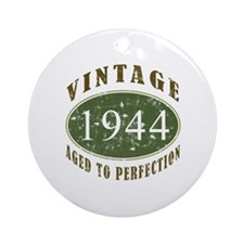 Vintage 1944 Birthday (Green) Ornament (Round)