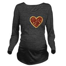i love pizza Long Sleeve Maternity T-Shirt