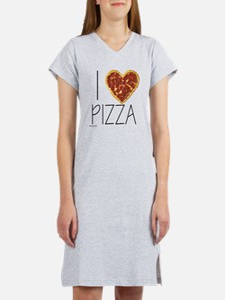 i love pizza Women's Nightshirt