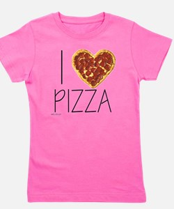 i love pizza Girl's Tee
