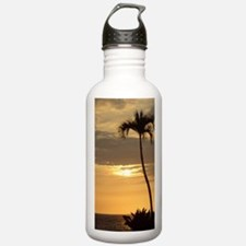 Lone Palm Sunset Water Bottle