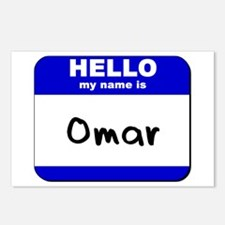 hello my name is omar  Postcards (Package of 8)