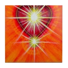 Love is Light Tile Coaster