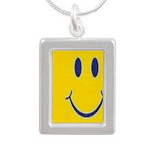Happy Journal Silver Portrait Necklace