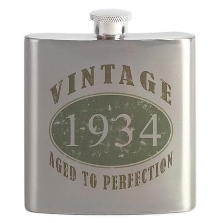 Vintage 1934 Birthday (Green) Flask