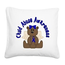 CHILD ABUSE AWARENESS WITH TE Square Canvas Pillow