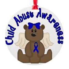 CHILD ABUSE AWARENESS WITH TEDDY BE Ornament