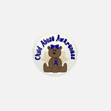 CHILD ABUSE AWARENESS WITH TEDDY BEAR Mini Button