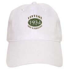 Vintage 1934 Birthday (Green) Baseball Cap