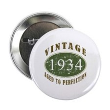 "Vintage 1934 Birthday (Green) 2.25"" Button"