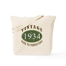 Vintage 1934 Birthday (Green) Tote Bag