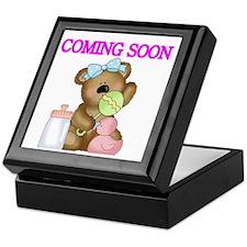 COMING SOON WITH TEDDY BEAR Keepsake Box
