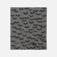 Bats on Gray Flip Flops Throw Blanket