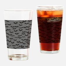 Bats on Gray Flip Flops Drinking Glass