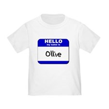 hello my name is ollie T