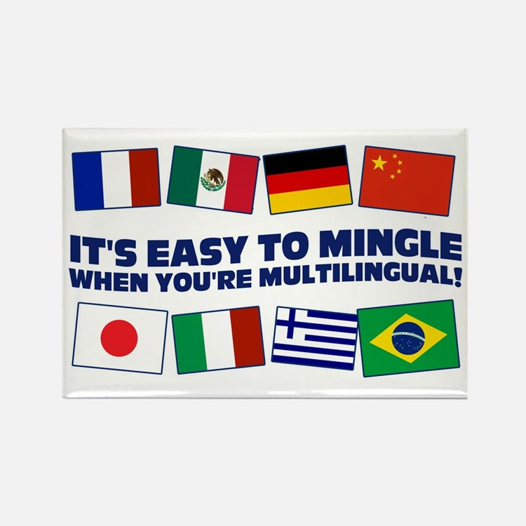 Its Easy to Mingle Rectangle Magnet