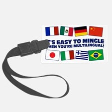 Its Easy to Mingle Luggage Tag