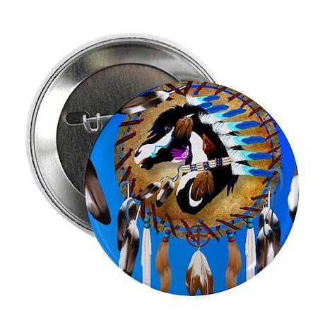 """Spiritual Horse 2.25"""" Button"""
