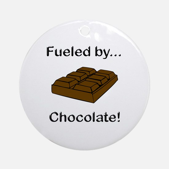 Fueled by Chocolate Ornament (Round)