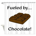Fueled by Chocolate Shower Curtain