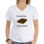 Fueled by Chocolate Women's V-Neck T-Shirt