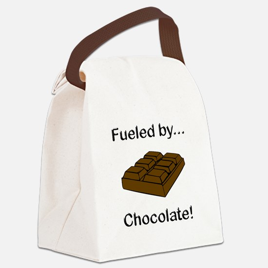 Fueled by Chocolate Canvas Lunch Bag