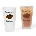 Fueled by Chocolate Drinking Glass