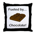 Fueled by Chocolate Throw Pillow