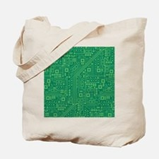 Green Circuit Board Tote Bag