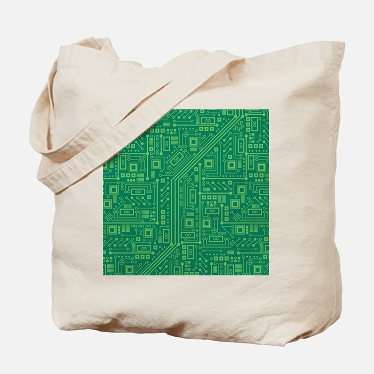 Green Circuit Board Tote Bag