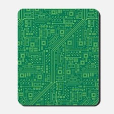 Green Circuit Board Mousepad