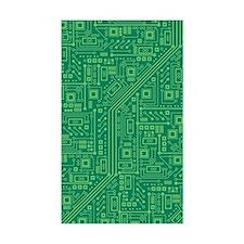 Green Circuit Board Decal