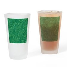 Green Circuit Board Drinking Glass