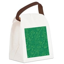 Green Circuit Board Canvas Lunch Bag