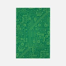 Green Circuit Board Rectangle Magnet