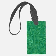 Green Circuit Board Luggage Tag