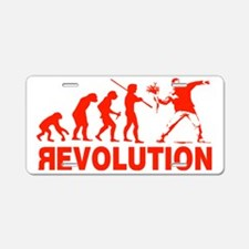 Revolution is following me Aluminum License Plate