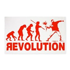 Revolution is following me 3'x5' Area Rug