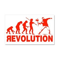 Revolution is following me Car Magnet 20 x 12