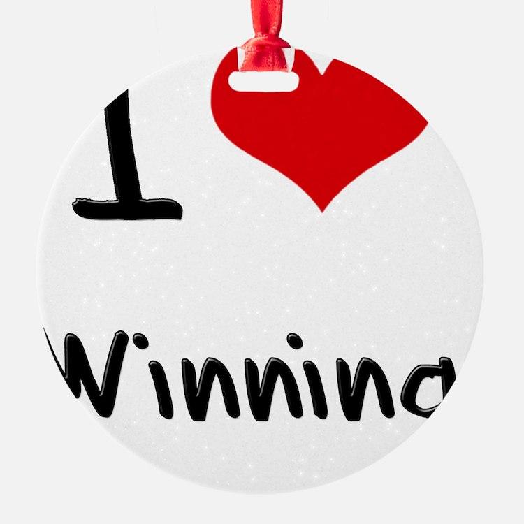 I love Winning Ornament