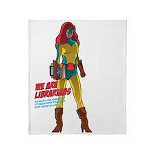 Female Superhero Throw Blanket