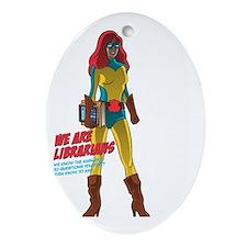 Female Superhero Oval Ornament