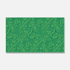 Green Circuit Board Car Magnet 20 x 12