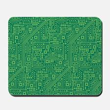 Green Circuit Board Mousepad