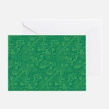 Green Circuit Board Greeting Card