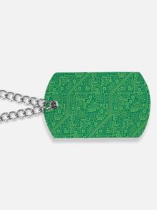 Green Circuit Board Dog Tags